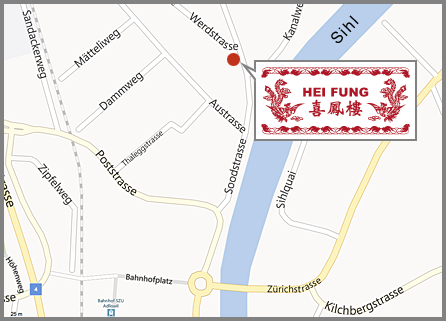 Map of Heifung Restaurant